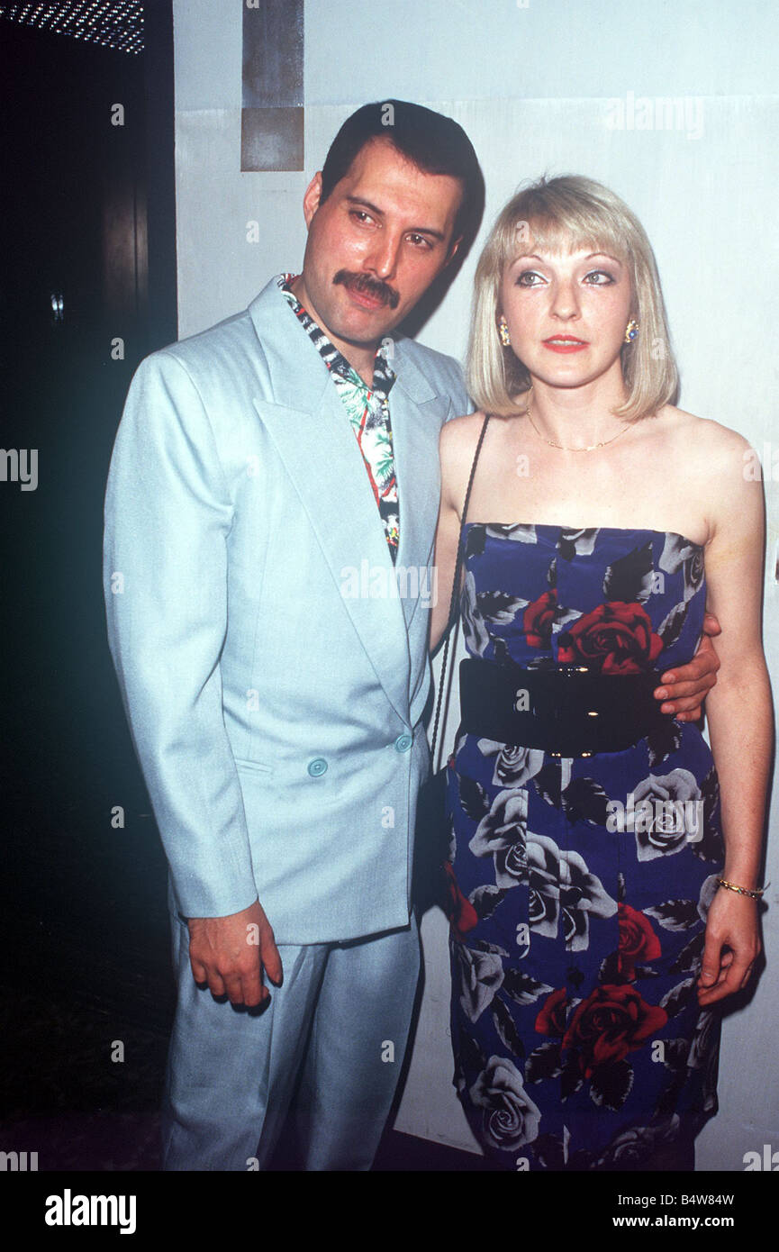 Freddie Mercury And Mary Austin At Queen Party At London Roof