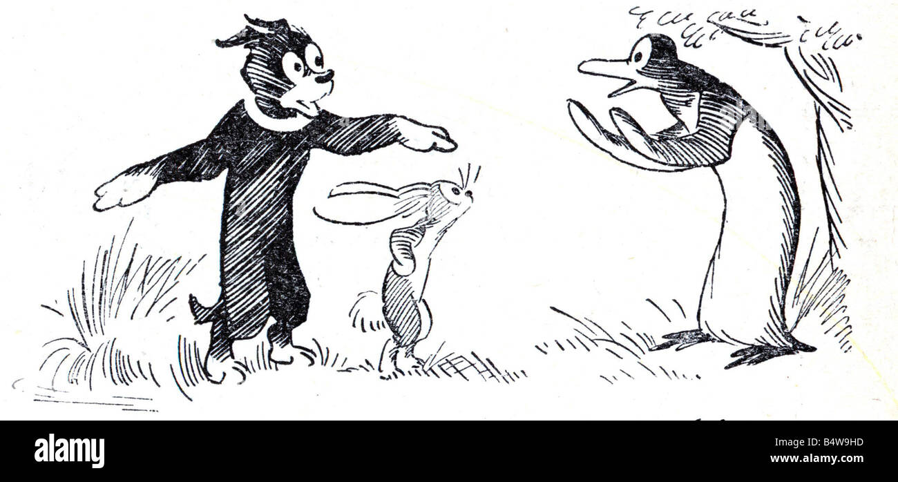 Pip Squeak and Wilfred On the 12th May 1919 the Daily Mirror introduced its readers to the adventures of Pip and - Stock Image