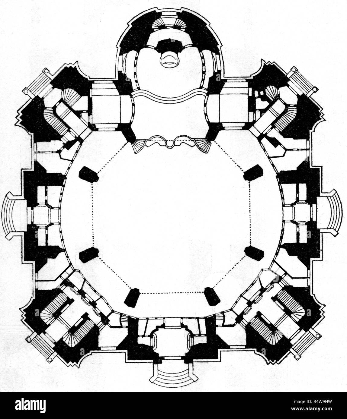 Architecture Floor Plans Dresden Frauenkirche Built