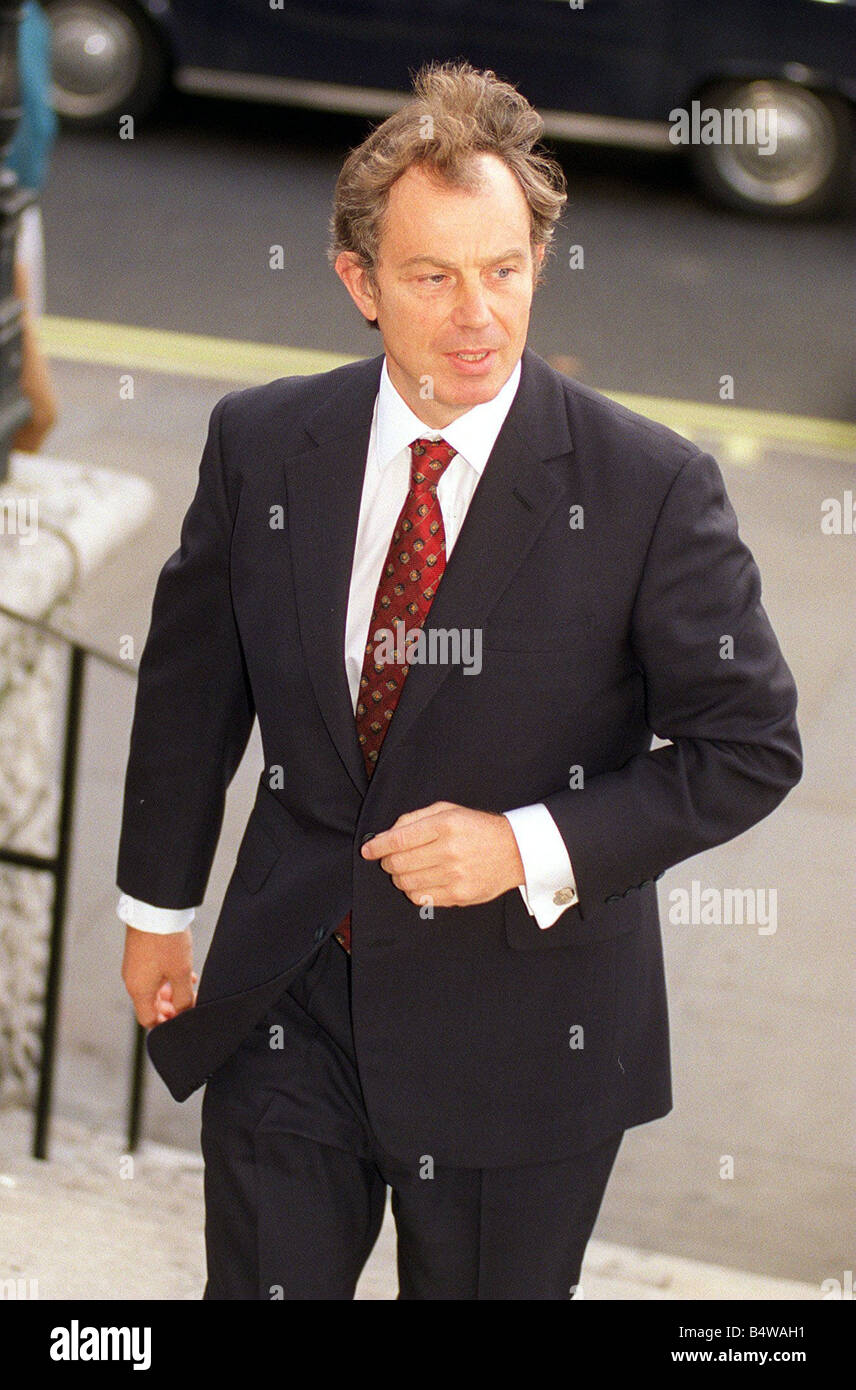 Tony Blair arriving for the memorial service at St Martin s in the field in London for Sir David English Chairman - Stock Image