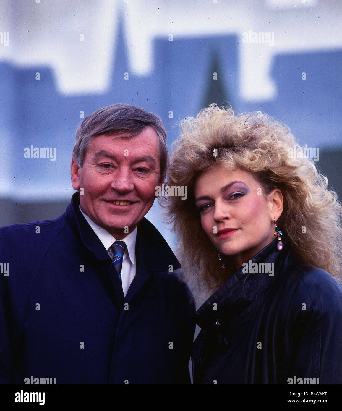Sheila Grier actress April 1987 with actor Mark McManus - Stock Image