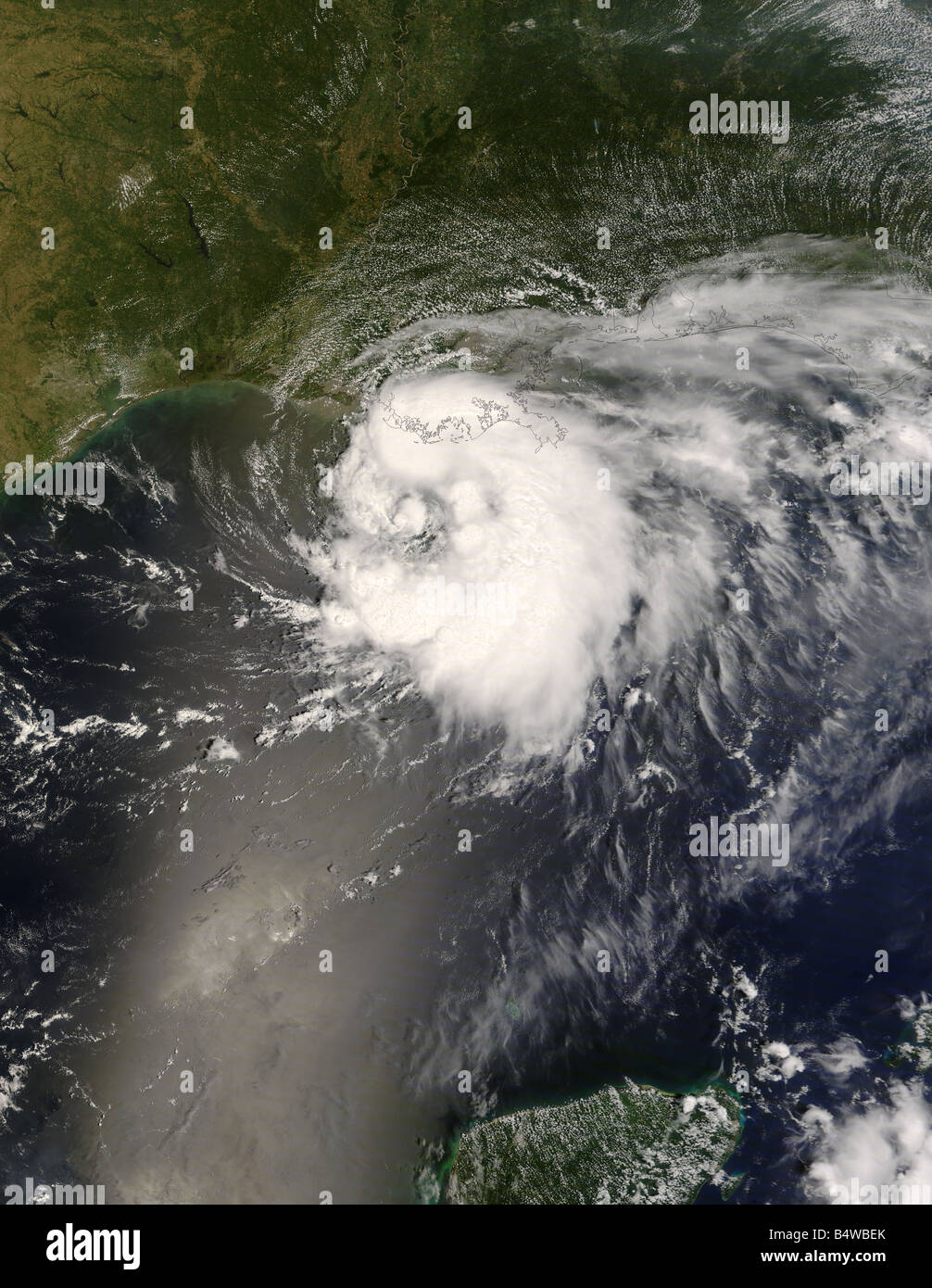 Tropical Storm Edouard, Gulf Coast, United States, August 4, 2008 Stock Photo