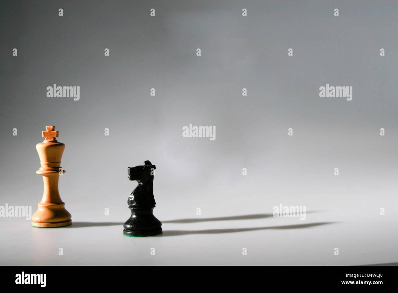 chess figures - Stock Image