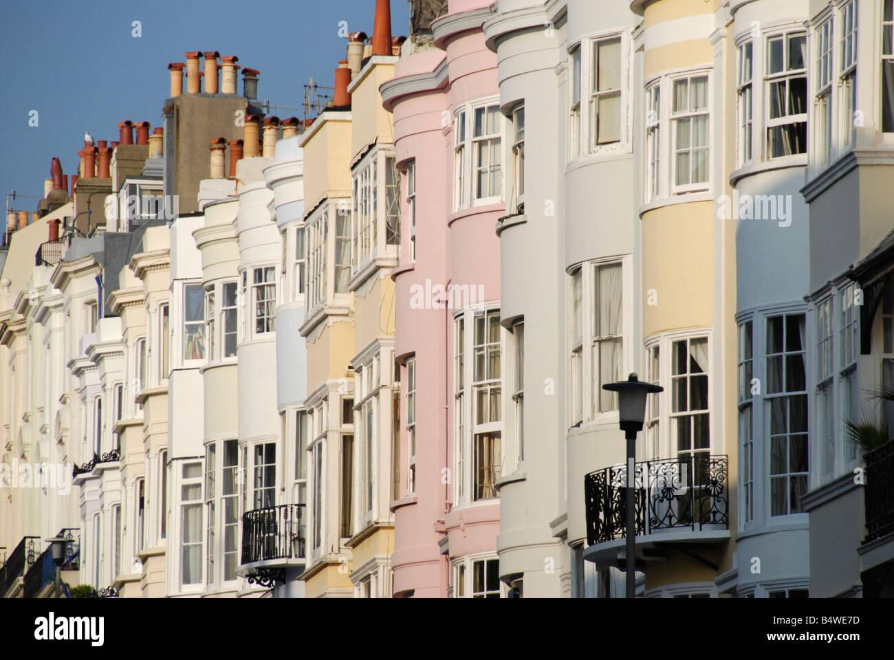 Colourful terraced houses stock photos colourful for Brighton house