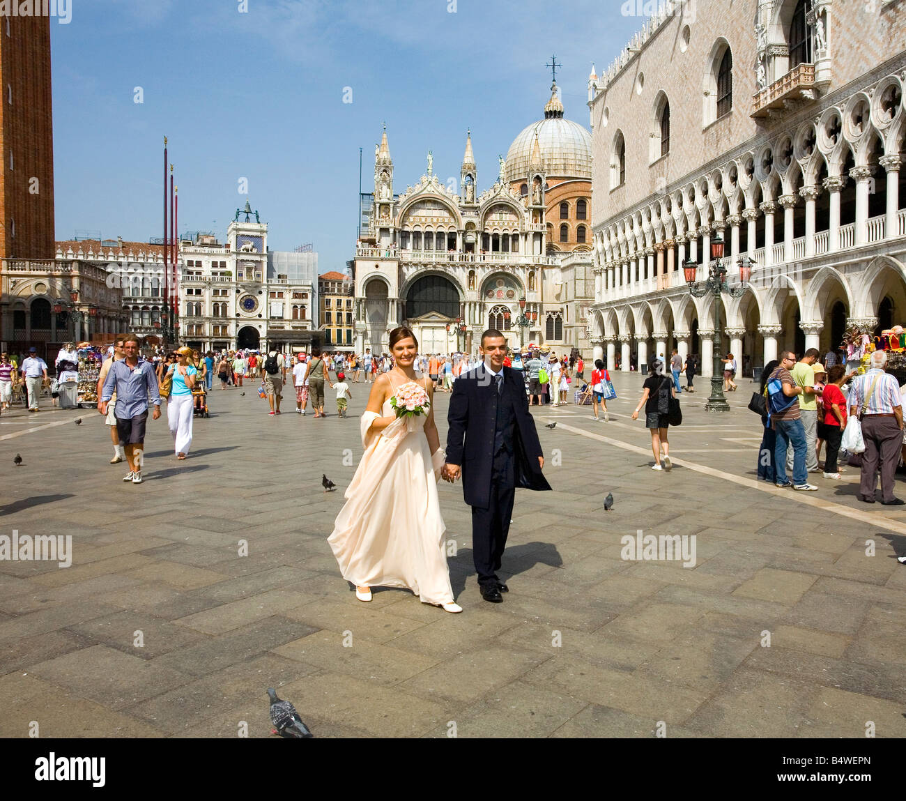 Getting married in Venice Italy - Stock Image
