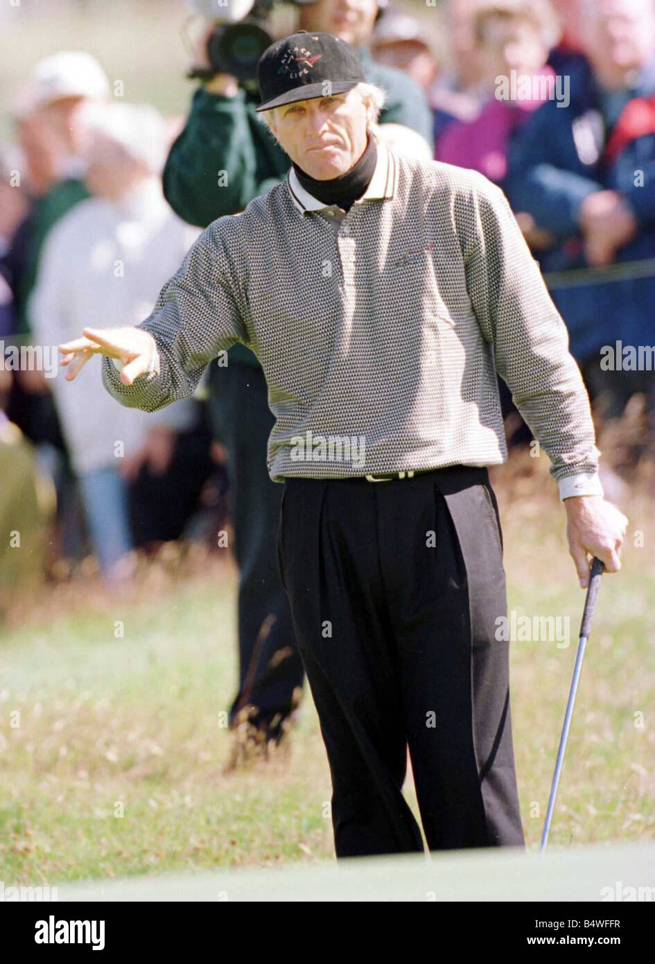Greg Norman pointing right hand July 1997 - Stock Image