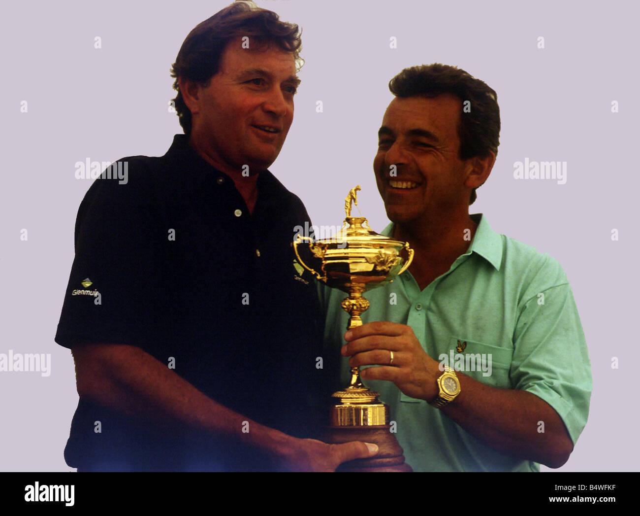 Raymond Floyd with Tony Jacklin golfers 1989 - Stock Image