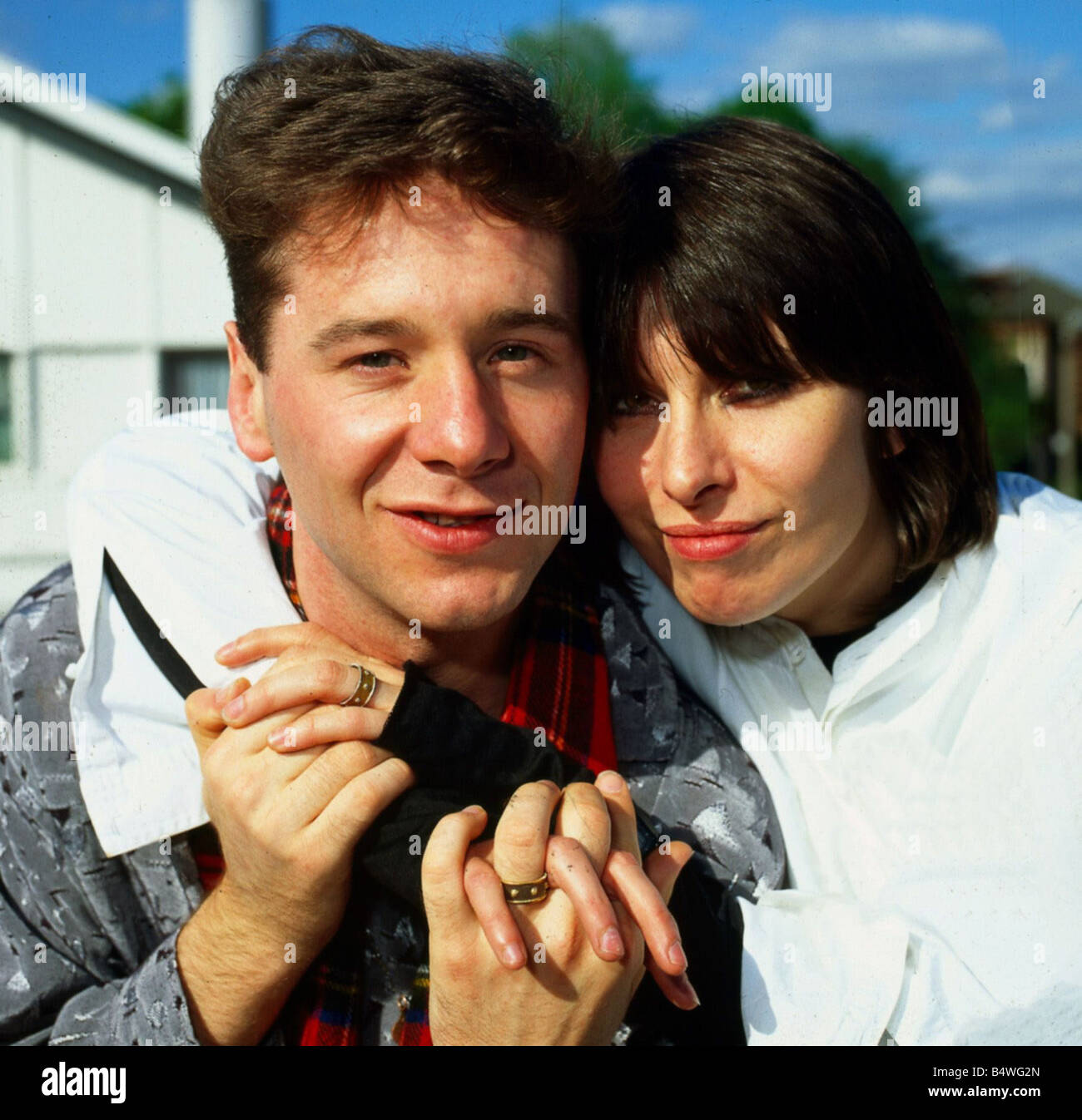 Jim Kerr with his wife Chrissie Hynde June 1984 - Stock Image