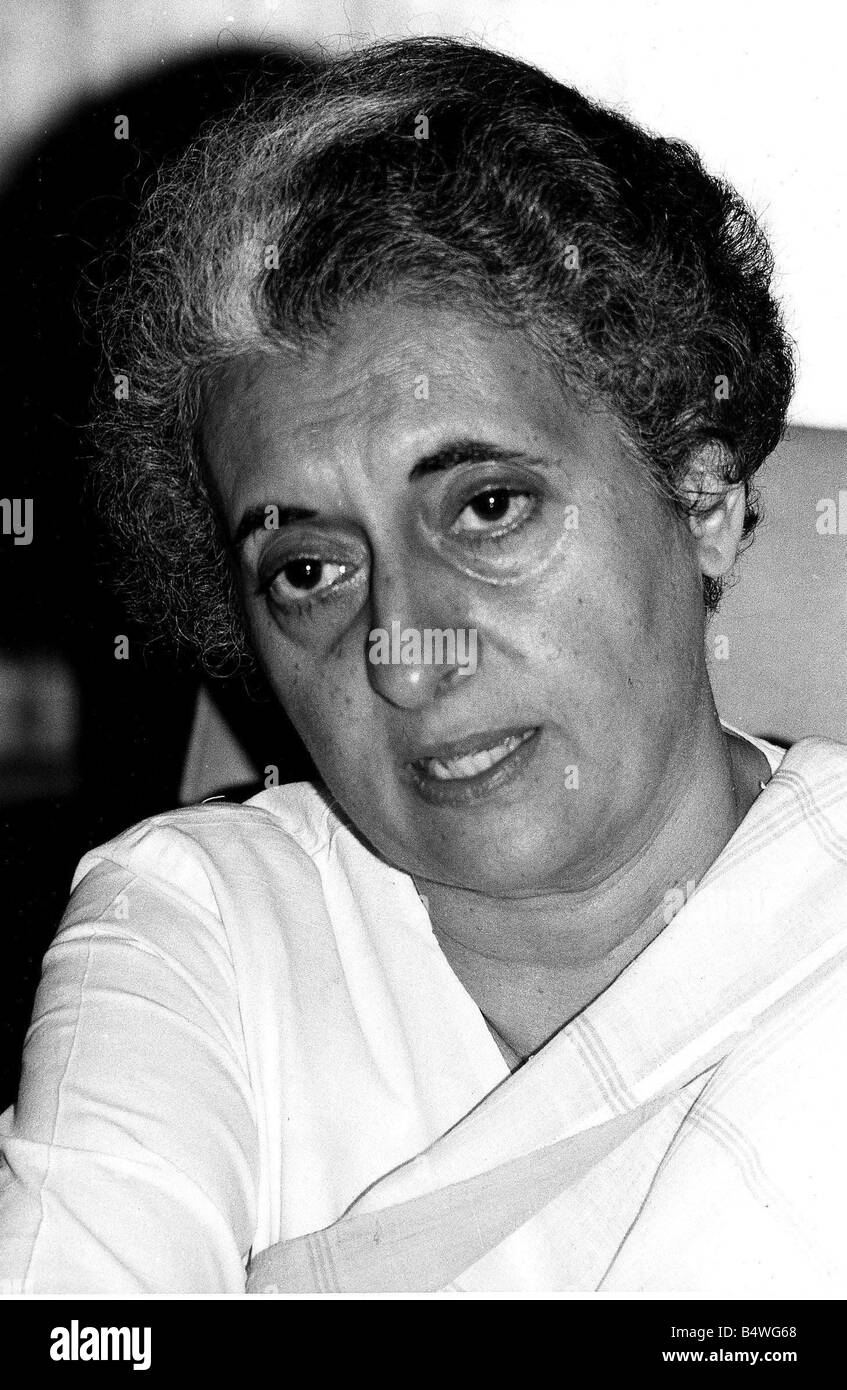 Mrs Indira Gandhi Prime Minister India - Stock Image