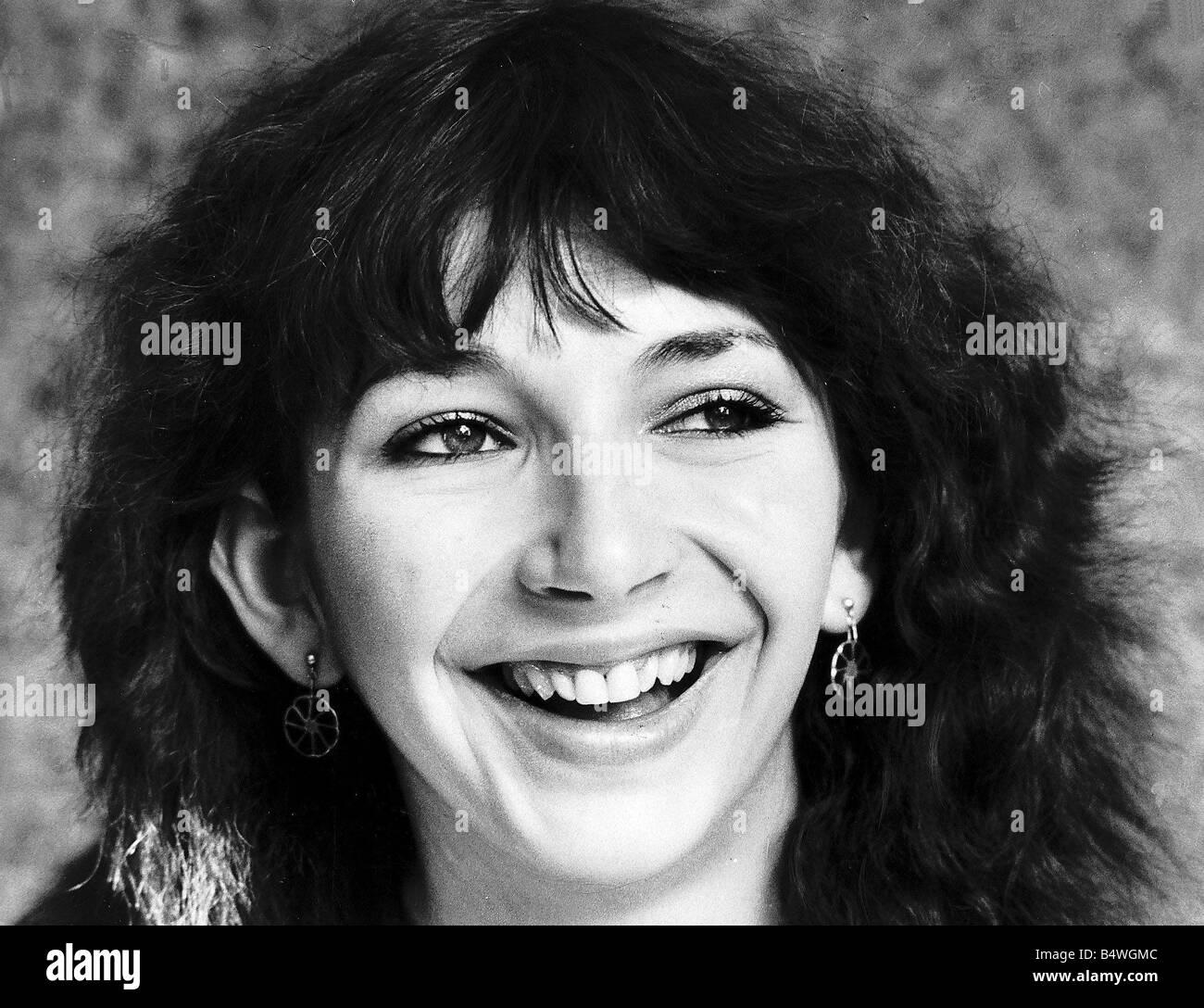 Portrait of singer Kate Bush Singer smiling September 1979 - Stock Image