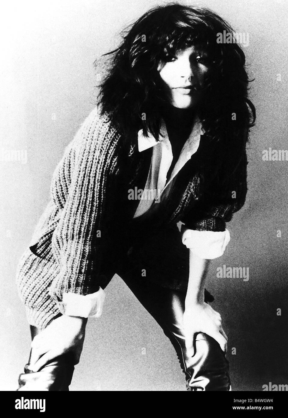 Pop singer Kate Bush poses in the studio September 1982 - Stock Image