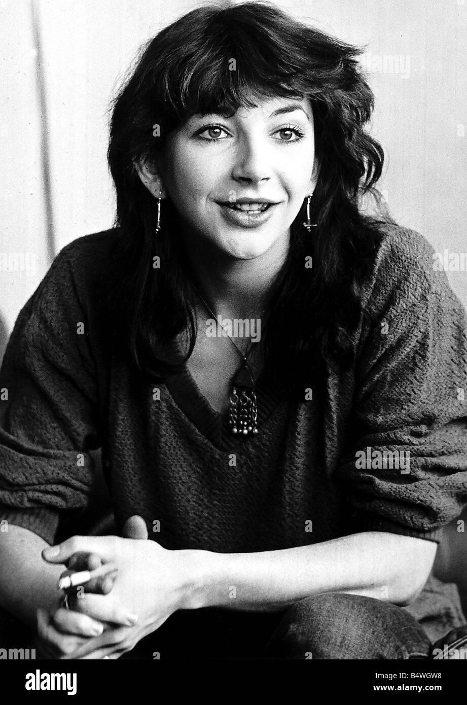Pop singer Kate Bush singer portrait May 1979 - Stock Image