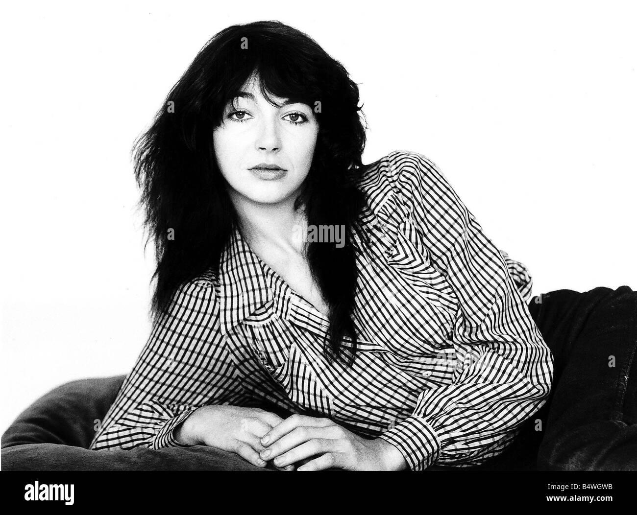 Singer Kate Bush in the studio October 1983 - Stock Image