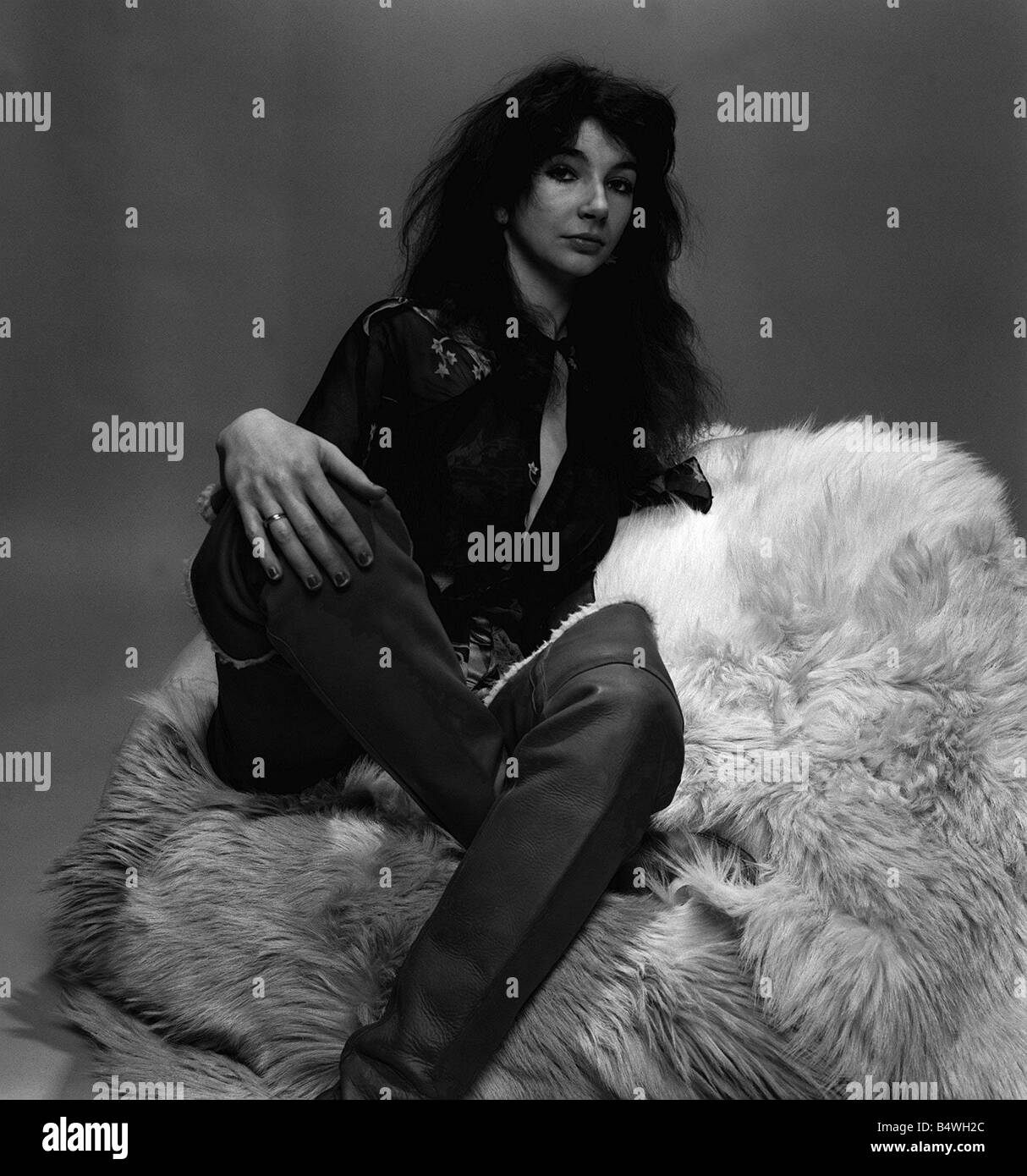 Singer Kate Bush in the studio March 1978 Stock Photo