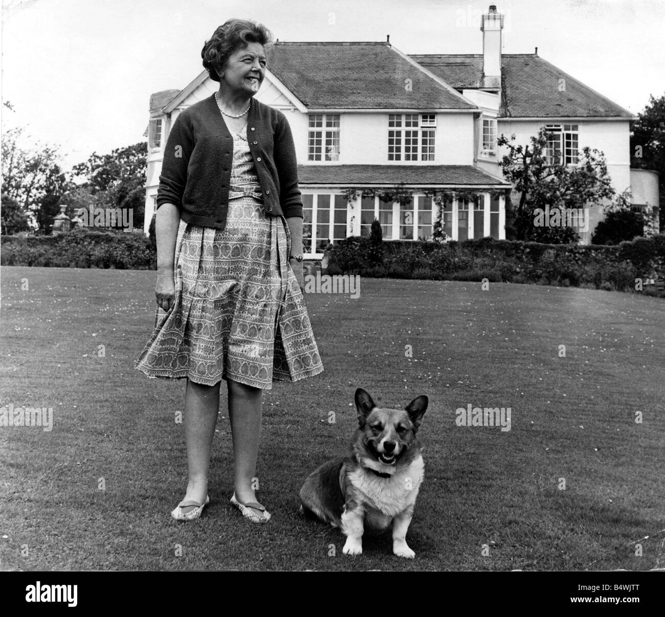 Lady Megan Lloyd George pictured at her home at Brynawelon near Criccieth June 1964 Stock Photo