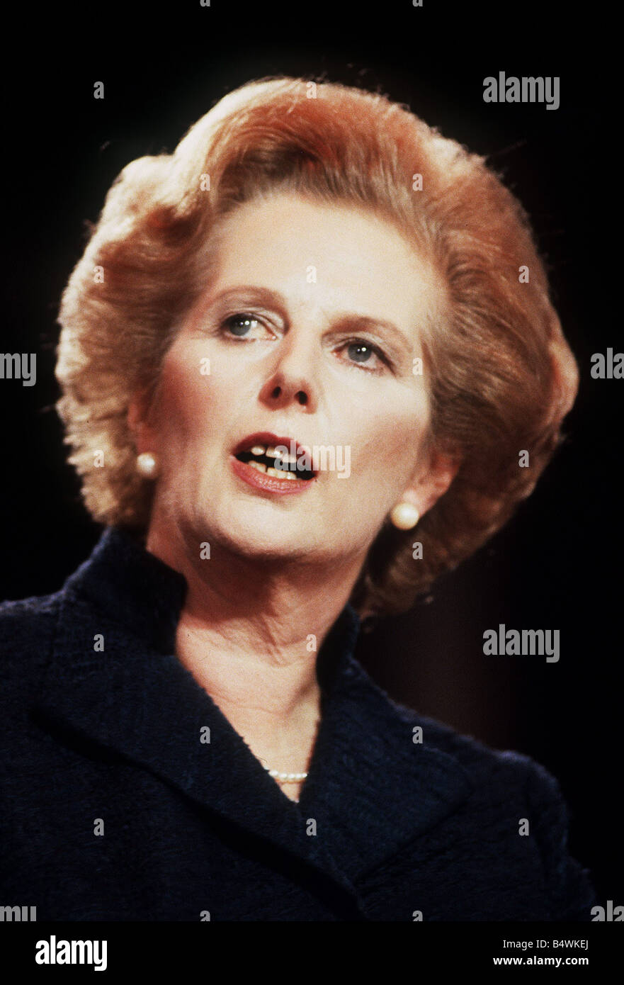 Prime Minister Margaret Thatcher In The 1980s Stock Photo Alamy