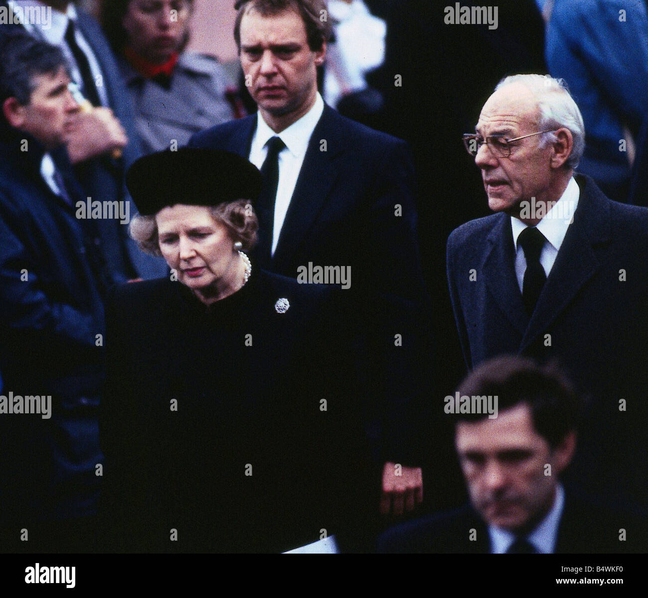 Denis Thatcher Funeral High Resolution Stock Photography And Images Alamy