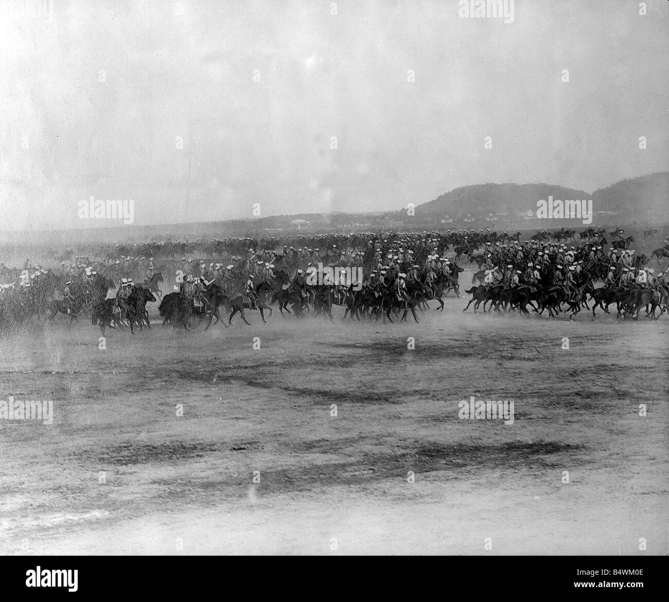 World War I Russian cavalry 3rd march 1918 Bolshevik Russia signs the Treaty of Brest Litovsk with the Central Powers - Stock Image
