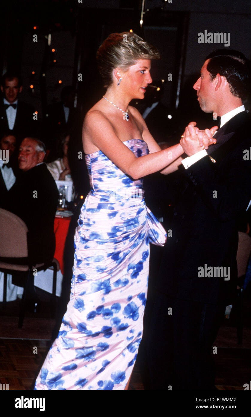 prince charles and princess diana dancing in melbourne on their stock photo alamy alamy