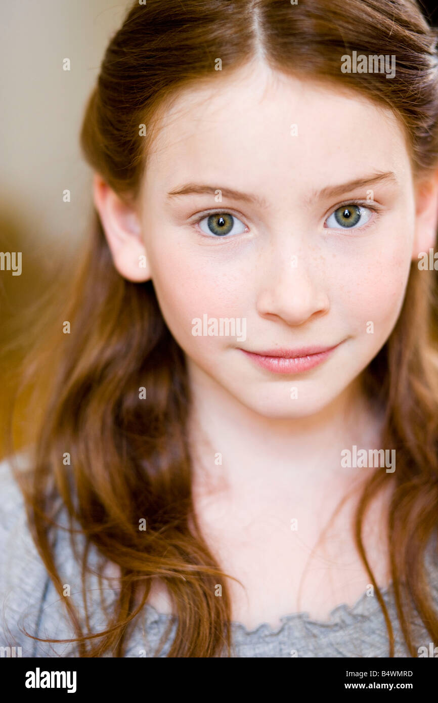 Portrait redheaded girl - Stock Image