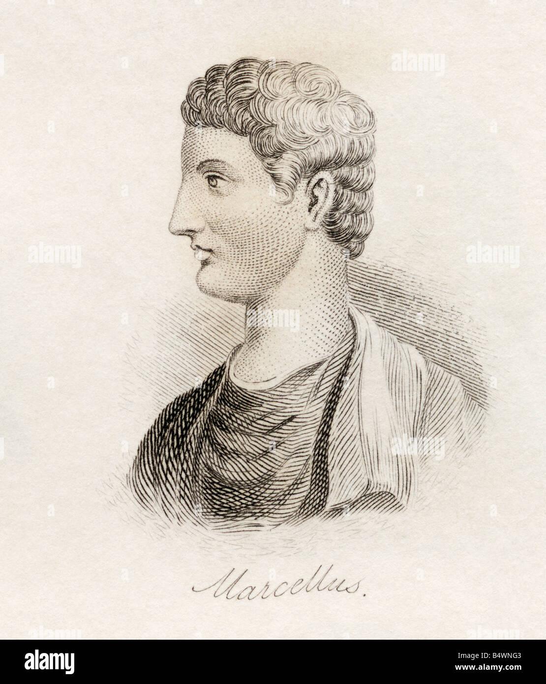 Marcus Claudius Marcellus ca 268 BC - 208 BC Roman general. - Stock Image