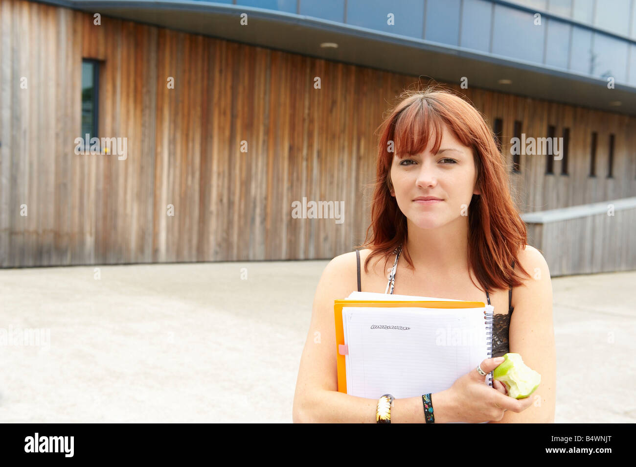 Portrait of a young student - Stock Image