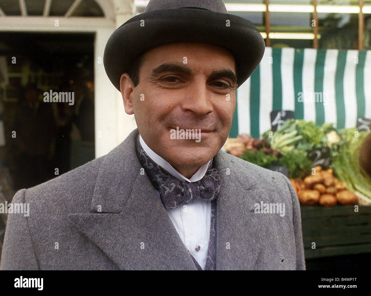 David Suchet as Hercule Poirot - Stock Image