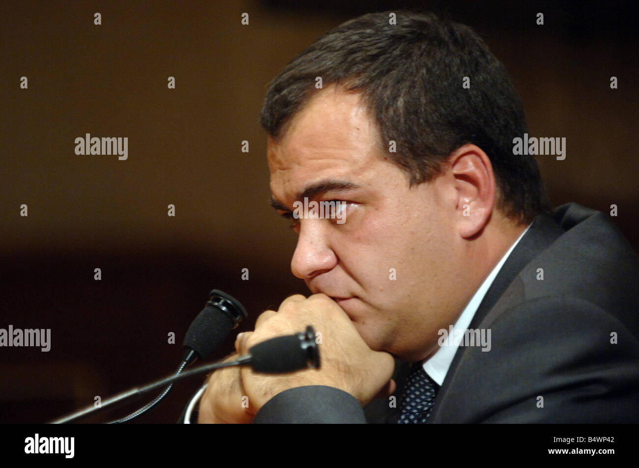 Mario Scaramella during a press conference in the Senate House in Rome, Italy.;Mr Scaramella had lunch in London - Stock Image
