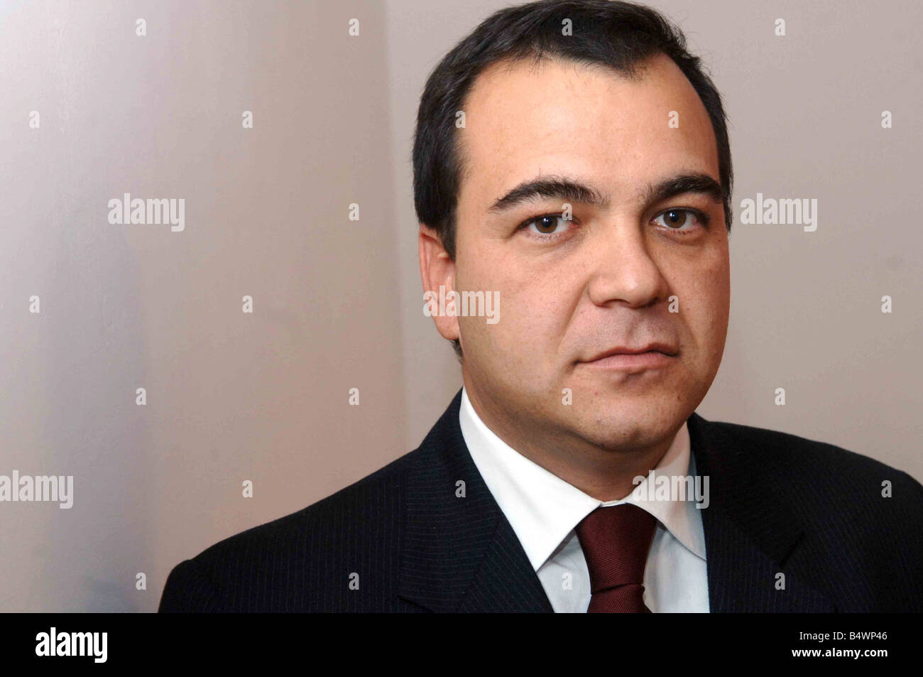 Professor Mario Scaramella who met for lunch in a London sushi bar with former Russian secret service agent Alexander - Stock Image