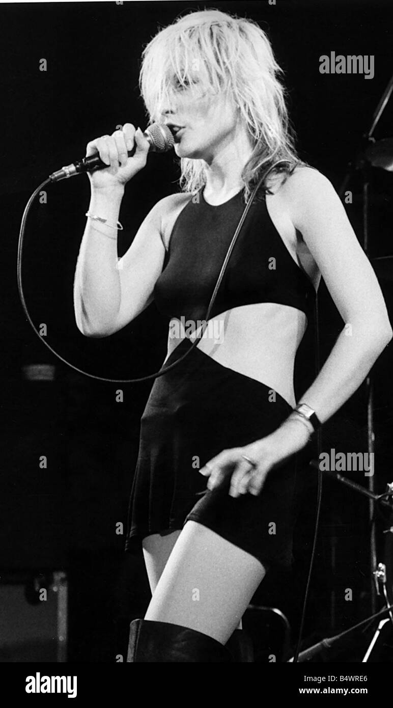 Debbie Harry pop singer on stage 1981 Stock Photo