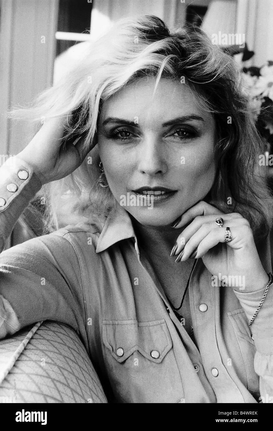 Debbie Harry Singer leader of the pop group Blondie dbase msi - Stock Image