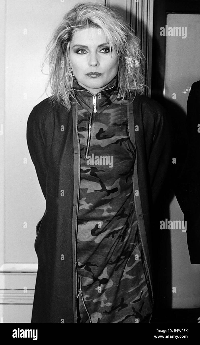 Debbie Harry American pop singer at BPI Awards 1987 - Stock Image