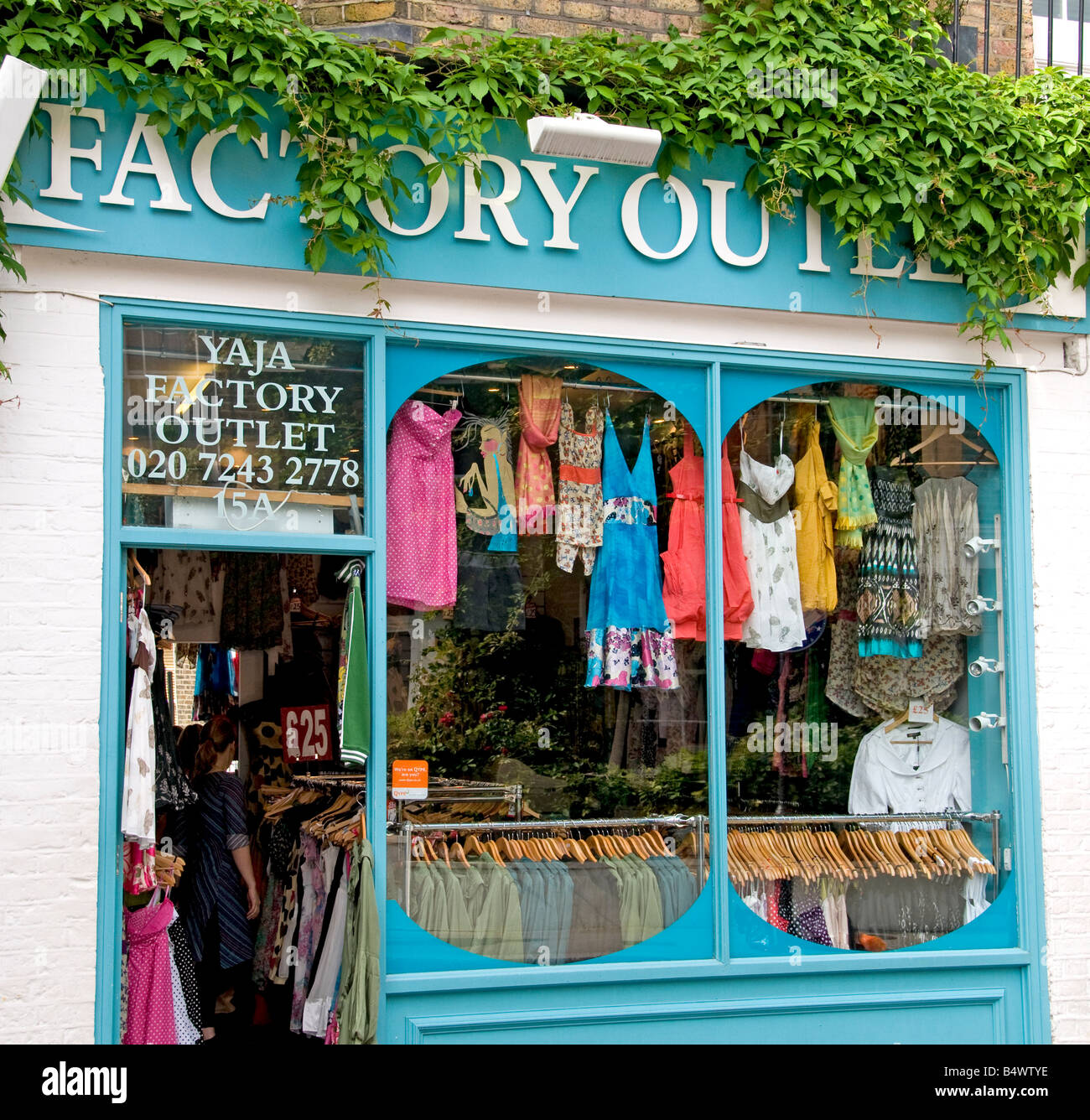Fashion Portobello Road Market Notting Hill London - Stock Image