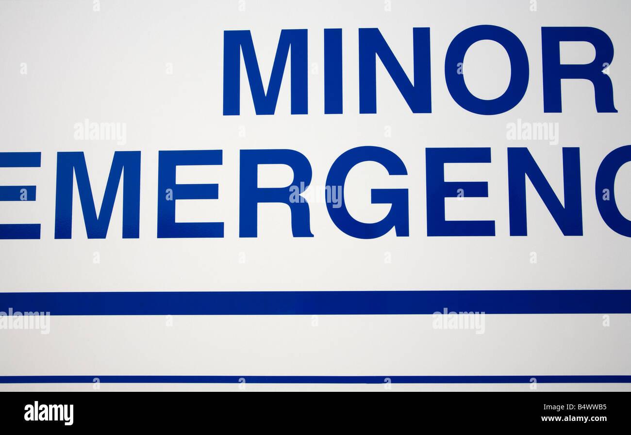 Minor Emergencies Department Great Britain British Isles Europe - Stock Image