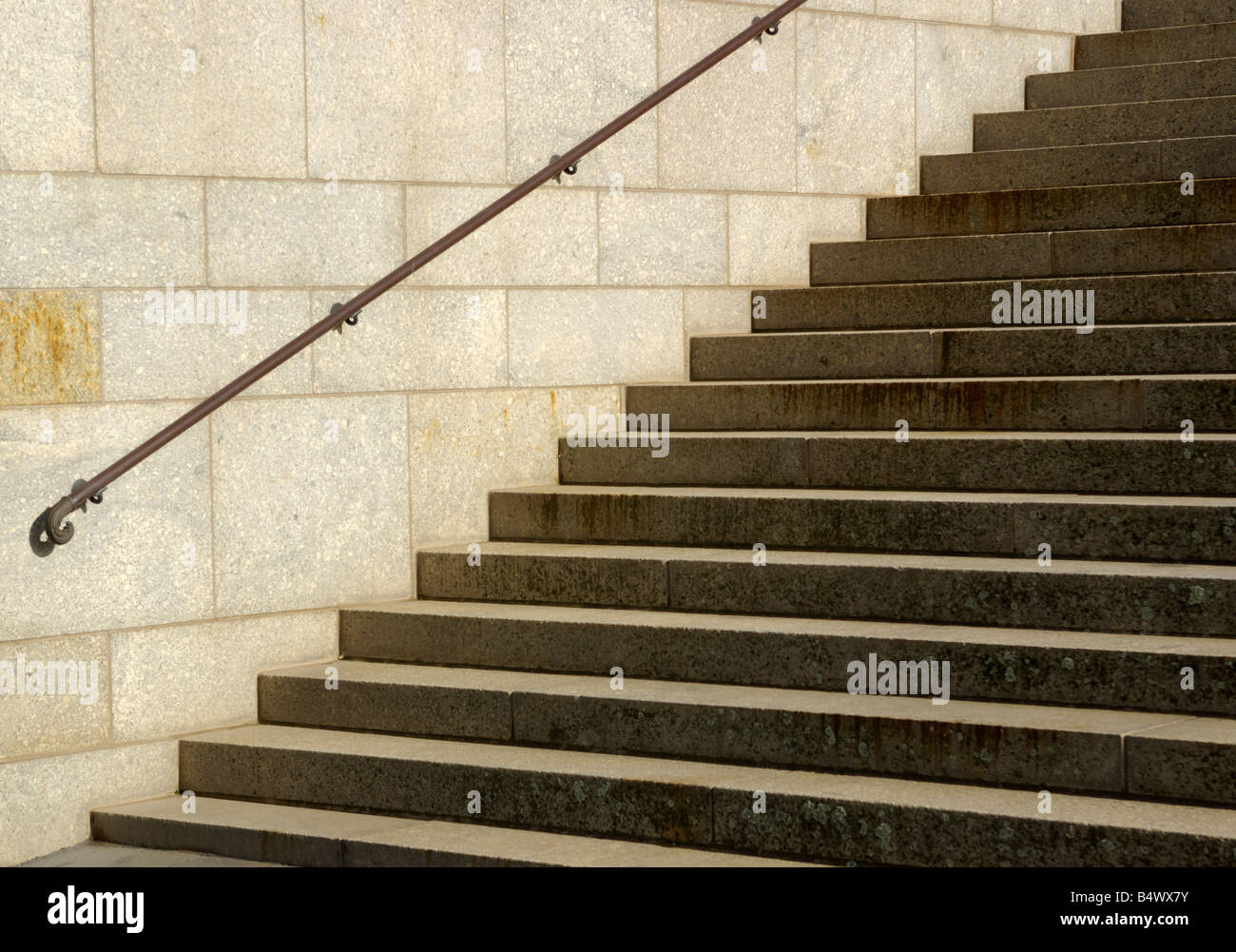 Stone steps at the Shrine of Remembrance, Melbourne, Australia. - Stock Image