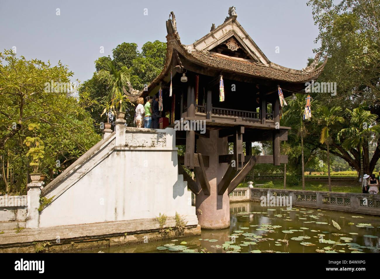 One Pillar Pagoda Hanoi north Vietnam Stock Photo