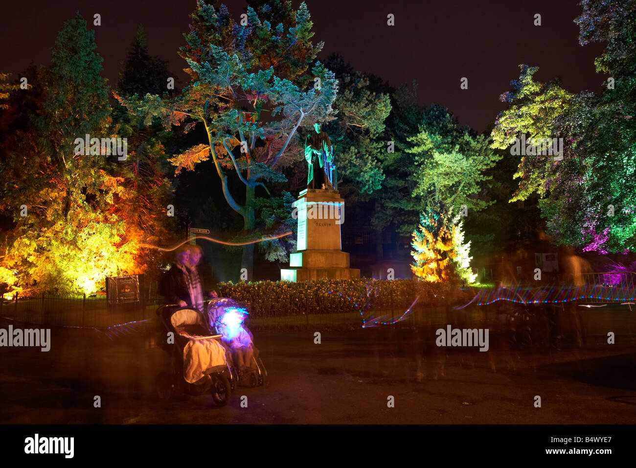 Enchanted evenings event held at Botanic Gardens in Belfast northern ireland - Stock Image