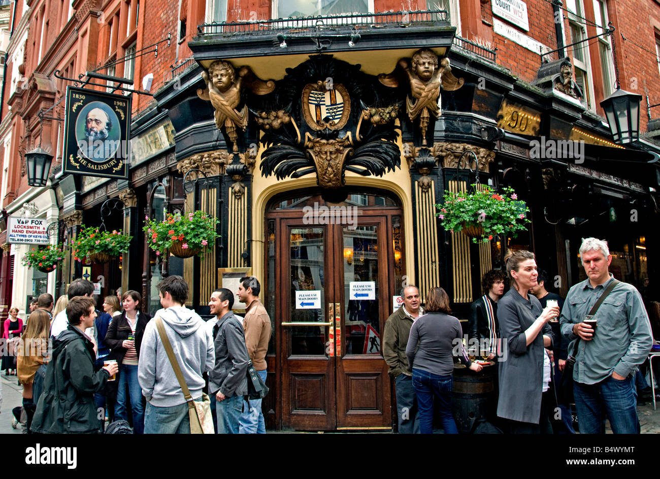 London Pub Bar Soho West End Beer Ale England - Stock Image