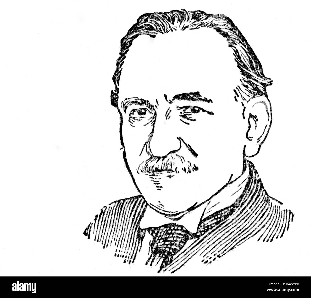 Foerster, Josef Bohuslav, 30.12.1859 - 29.5.1951, Czech composer, portrait, line drawing, , Additional-Rights-Clearances - Stock Image