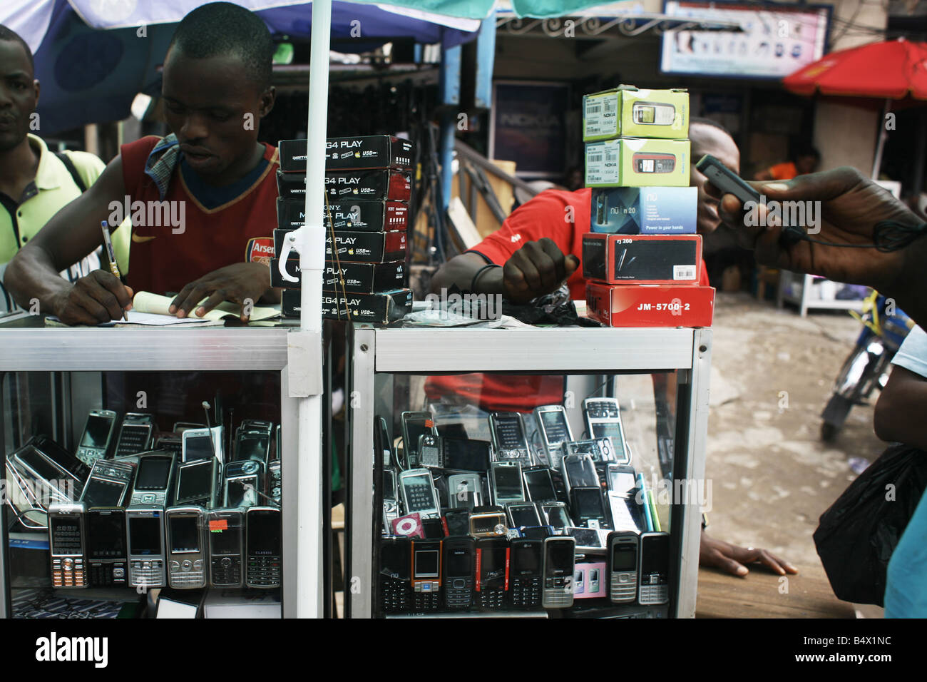 Mobile phones for sale in Lagos. - Stock Image