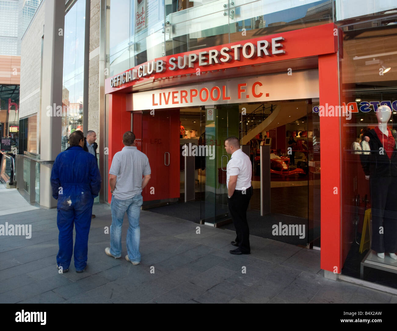 Liverpool football club official supporters store - Stock Image
