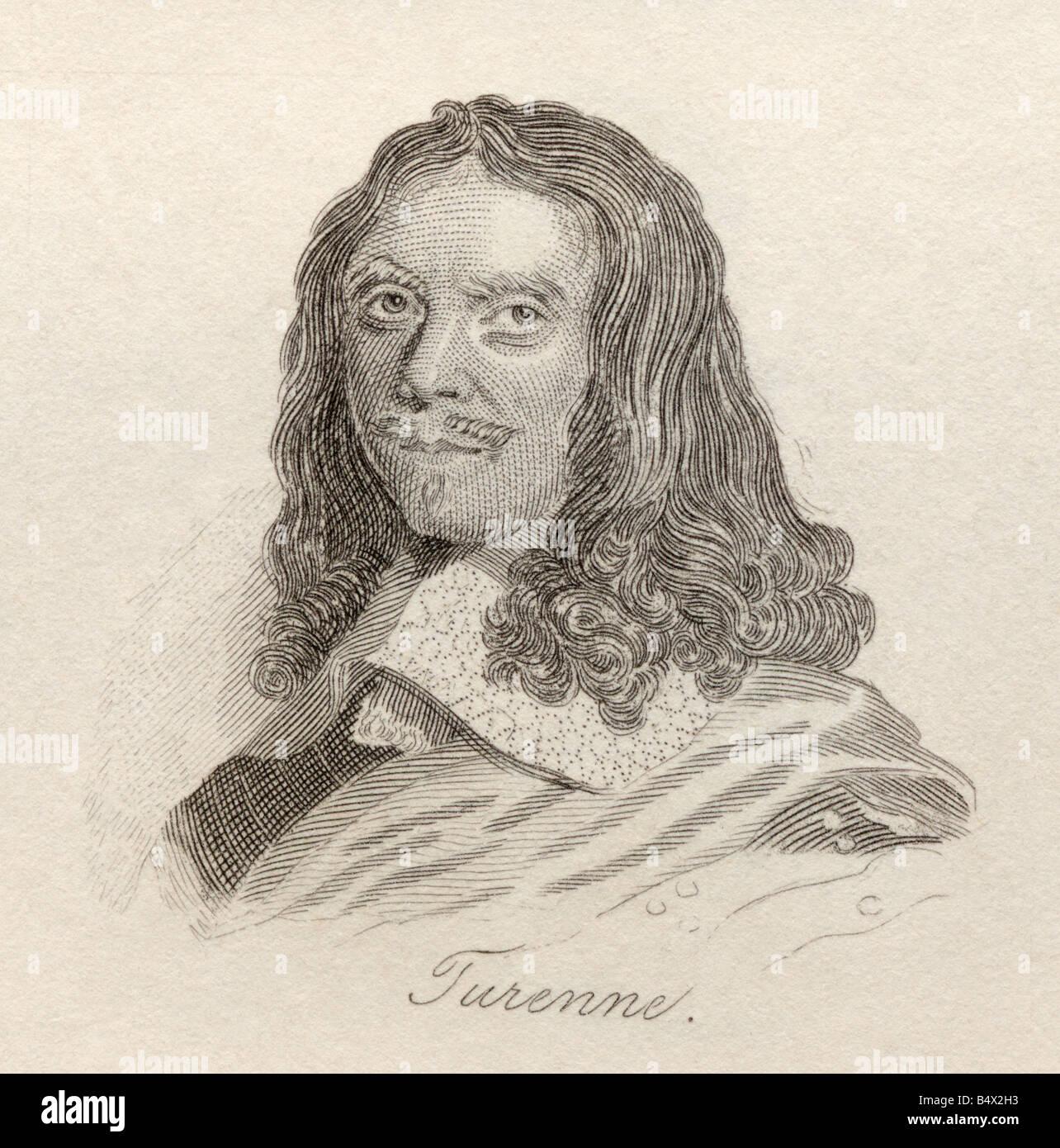 Henri de la Tour d Auvergne Vicomte de Turenne 1611 to 1675 French military leader and Marshal of France - Stock Image