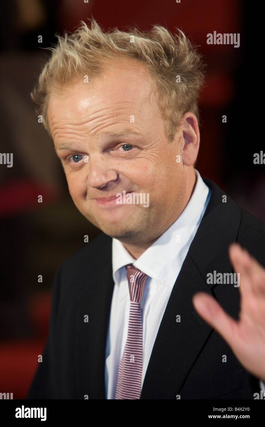 Toby Jones Attending BFI 52 London Film Festival Opening Gala Frost Nixon Red Carpet Odeon cinema Leicester Square - Stock Image