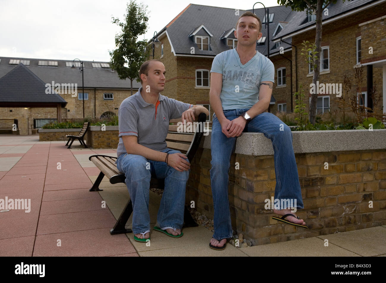 Fashionable homosexual pair