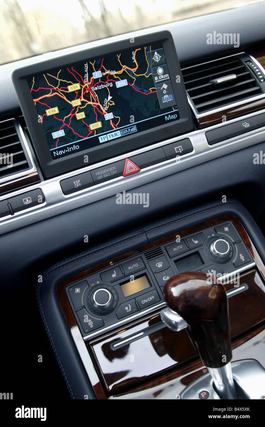 In Car SatNav system - Stock Image