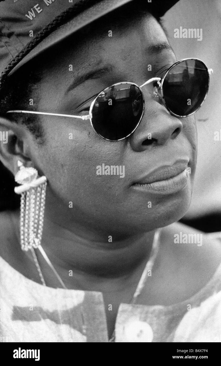 Rita Marley Wife of Reggae Legend Bob Marley - Stock Image