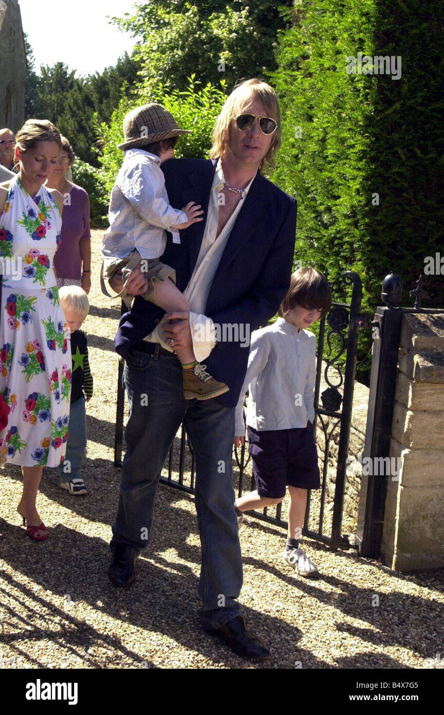 Kate Moss Baby s Christening Party August 2003 Rhys Ifans - Stock Image
