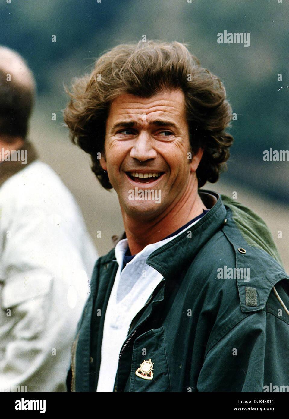 mel gibson actor filming braveheart in glen nevis scotland wearing