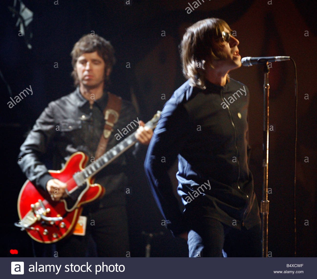 The 2007 Brit Awards with Mastercard, from London's Earls Court on Valentines Day 14th Feb. 2007. Liam Gallagher. - Stock Image