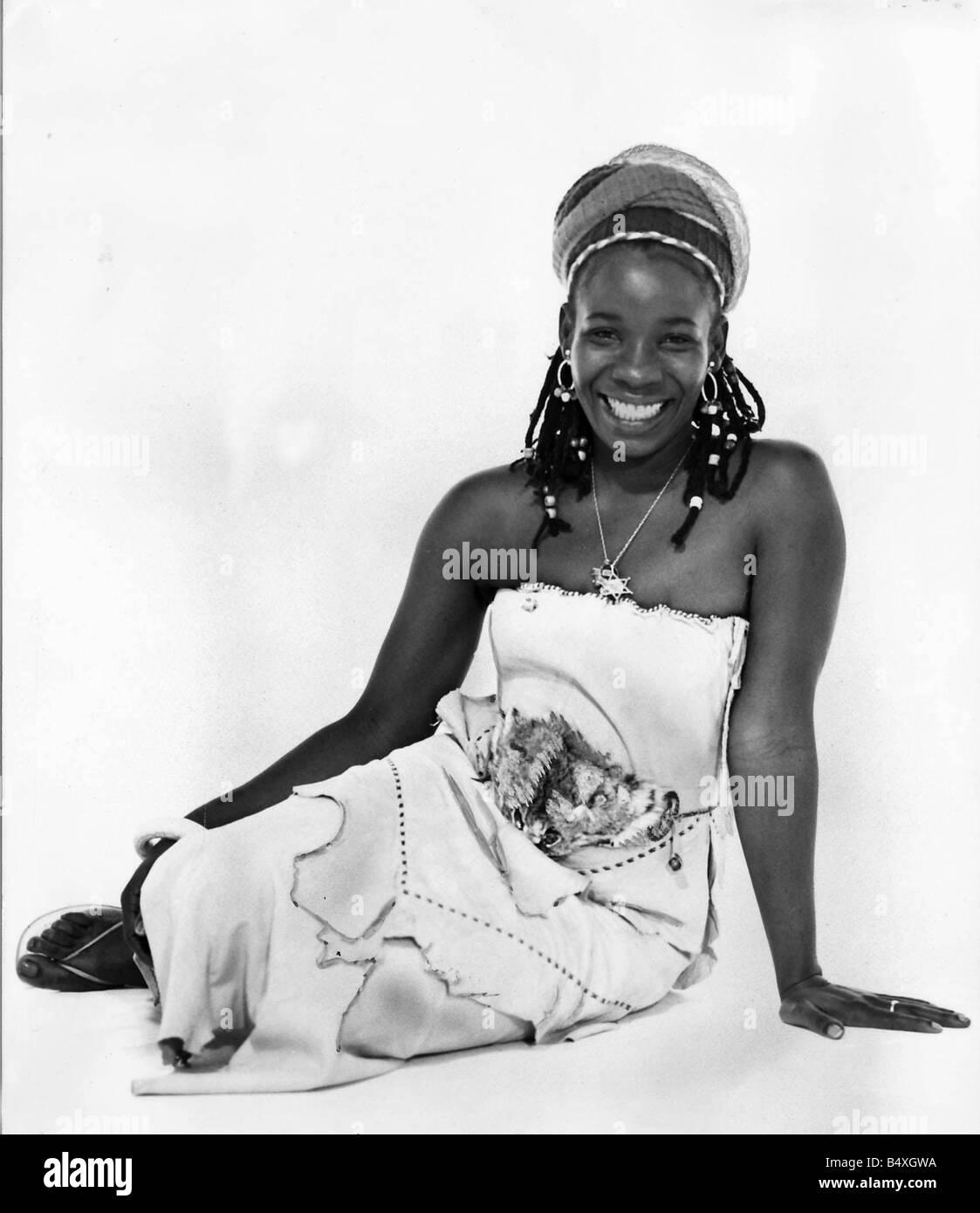 Rita Marley Reggae Singer and wife of Bob Marley - Stock Image